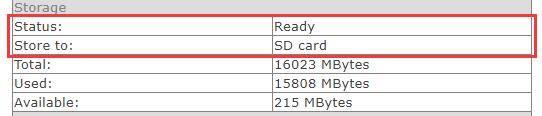 check titathink camera sd card status
